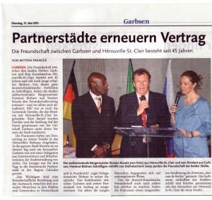 Vereinsvorsitzender besucht die frzanzösische Partnerstadt Hèrouville